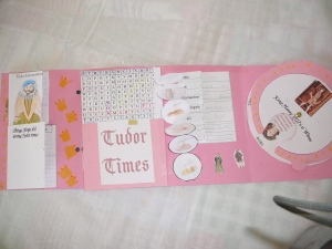 Tudor Lapbook opened