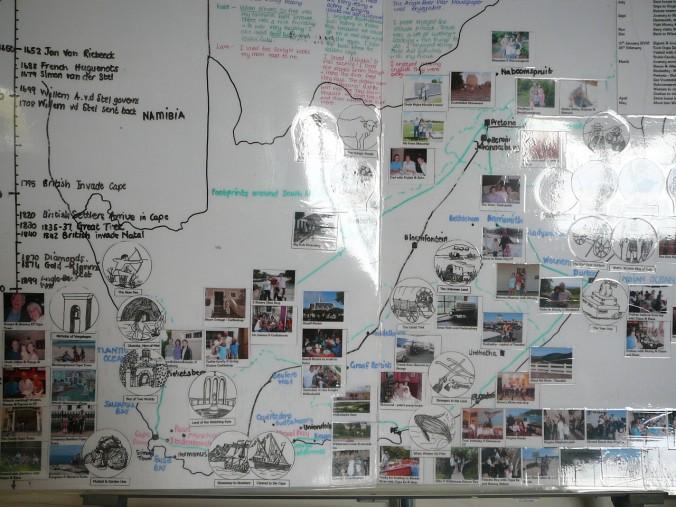 Footprints map
