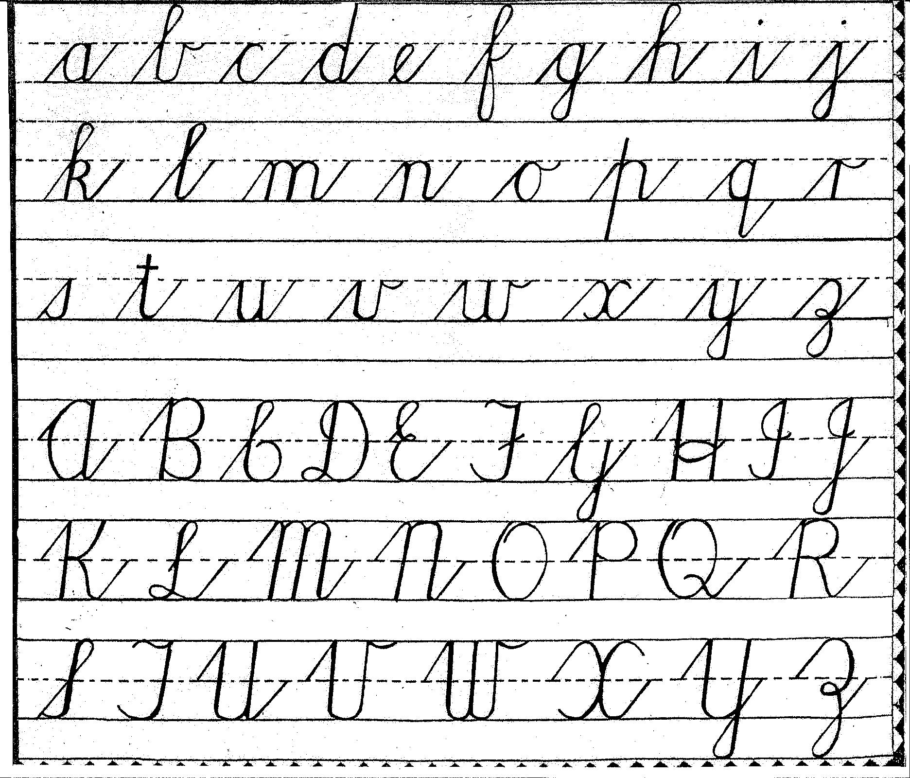 z in cursive writing