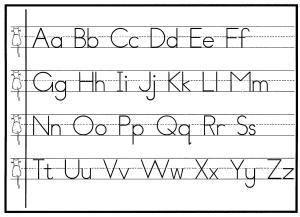 neat print handwriting alphabet cursive worksheet