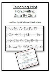 Teaching Print step by step ($1.00 / ZAR10.00)