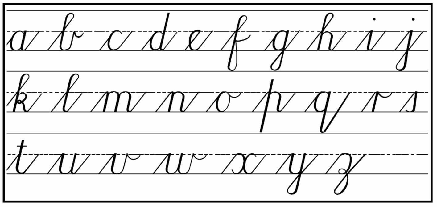 Printables Small Letter Alphabet Hand Writing cursive handwriting step by for beginners practical pages lower case letters cursive