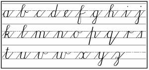 Worksheets Small Letter Alphabet Hand Writing cursive handwriting step by for beginners practical pages lower case letters cursive