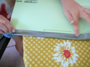 Fold over and stick duct tape to back of lapbook