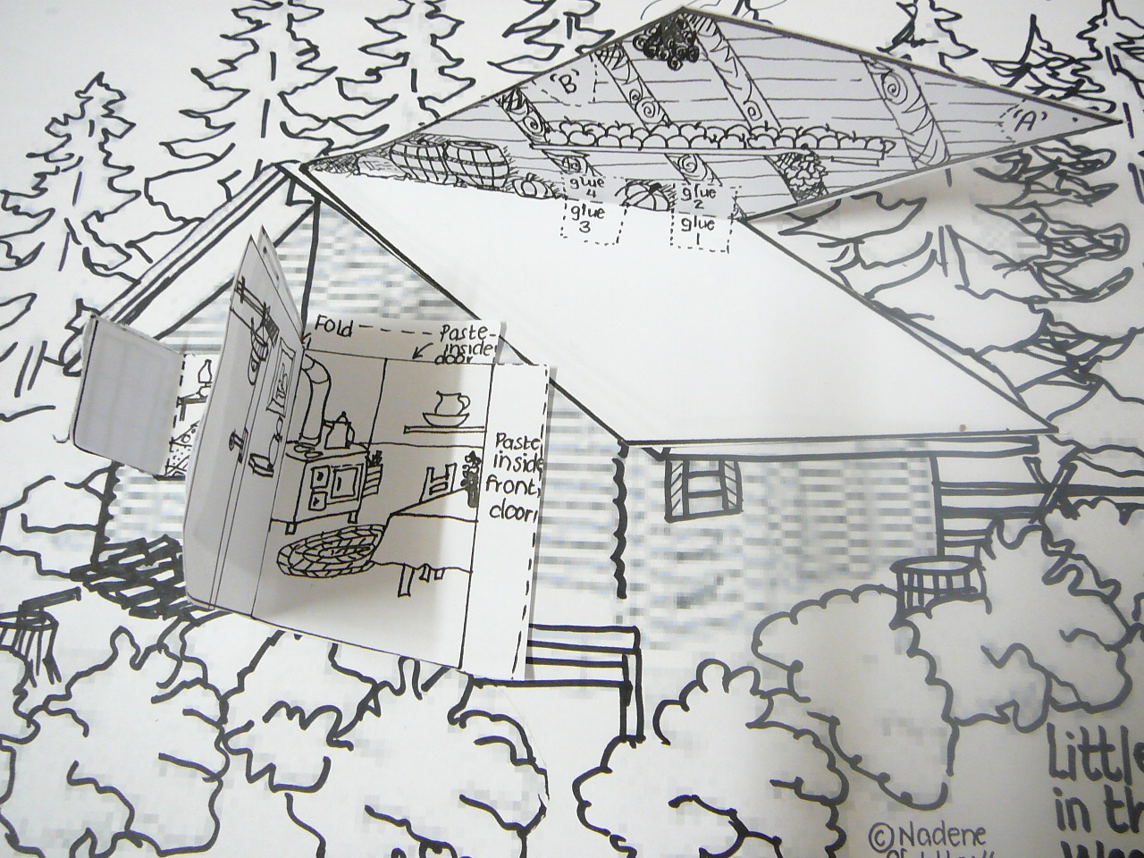 Clip Art Little House In The Big Woods Coloring Pages little house in the big woods worksheets abitlikethis our 3 dimensional model of woods
