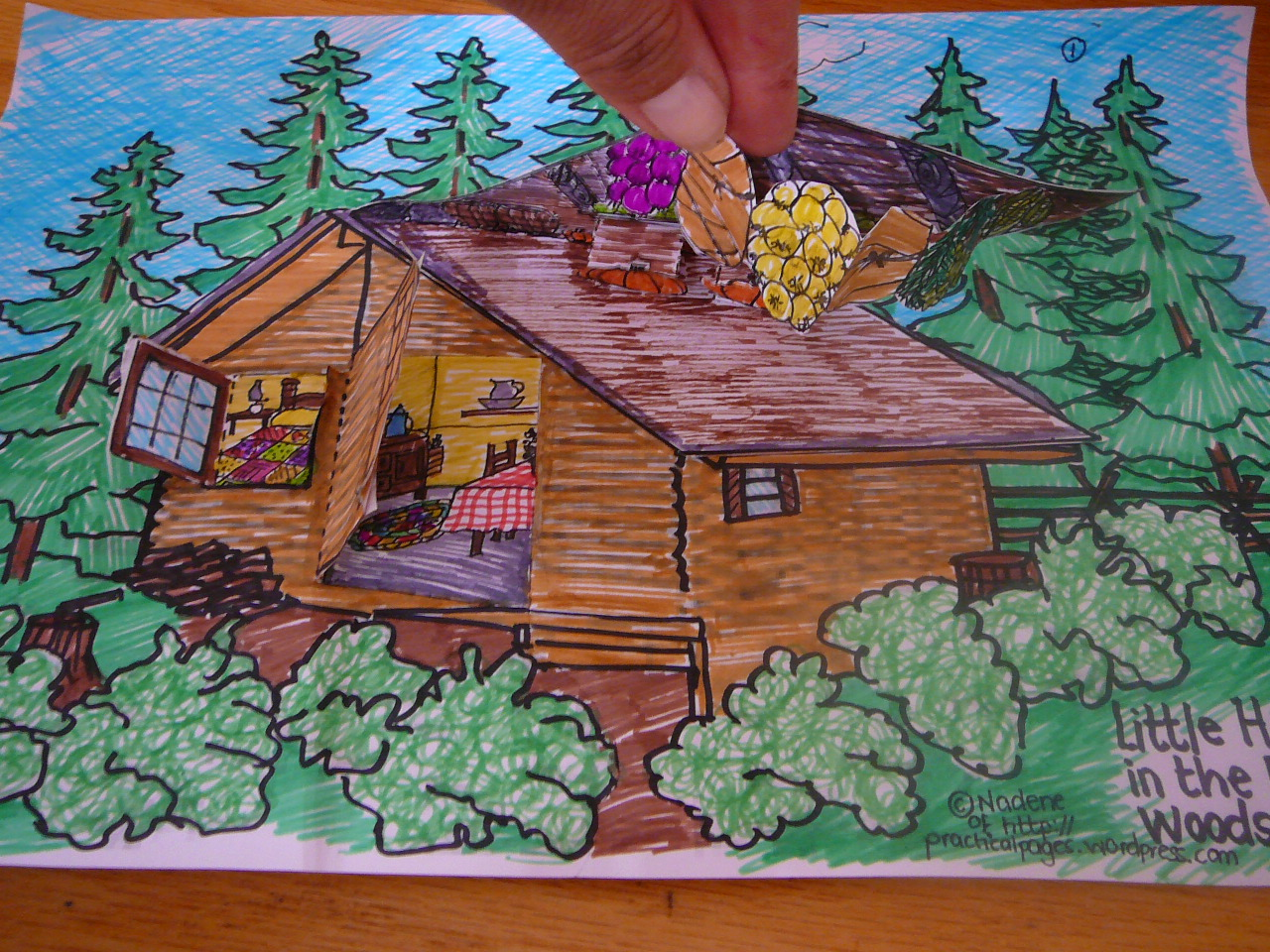 Clip Art Little House In The Big Woods Coloring Pages our 3 dimensional model of little house in the big woods little