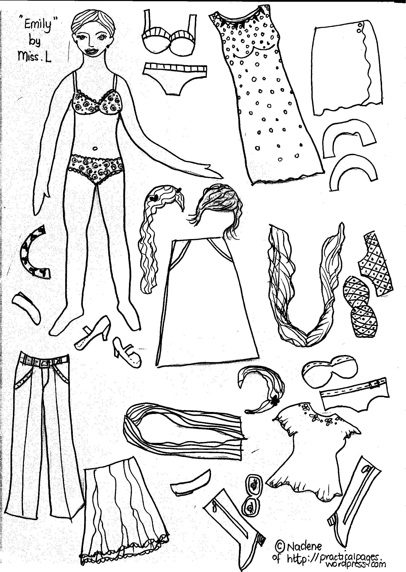paper doll coloring pages girls - photo#13