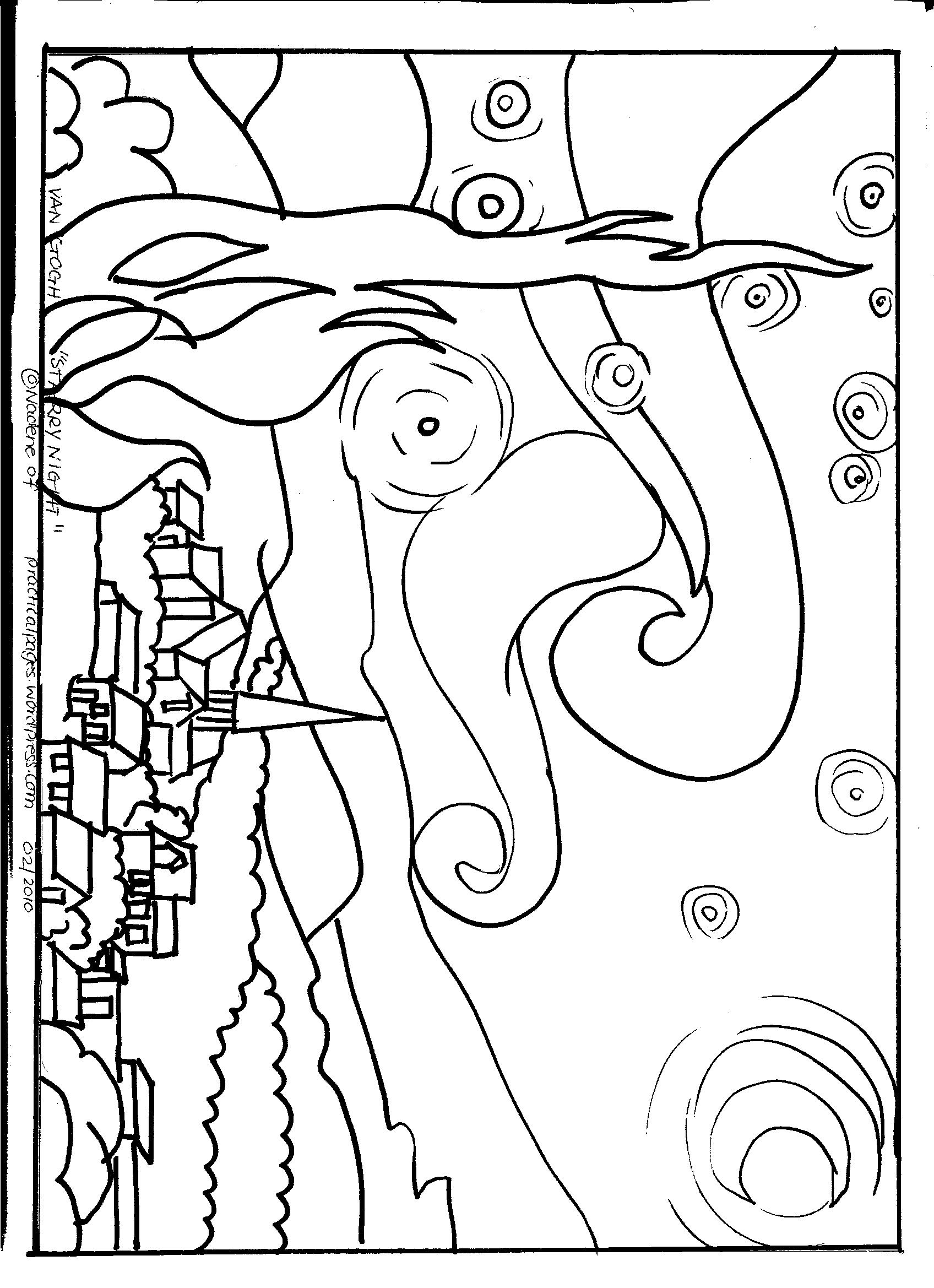 coloring pages van gough - photo#4