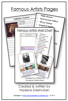 Famous Artist Pages cover