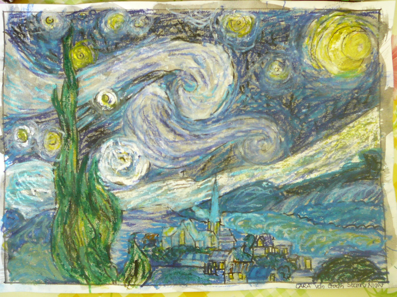 van gogh starry night art appreciation practical pages van