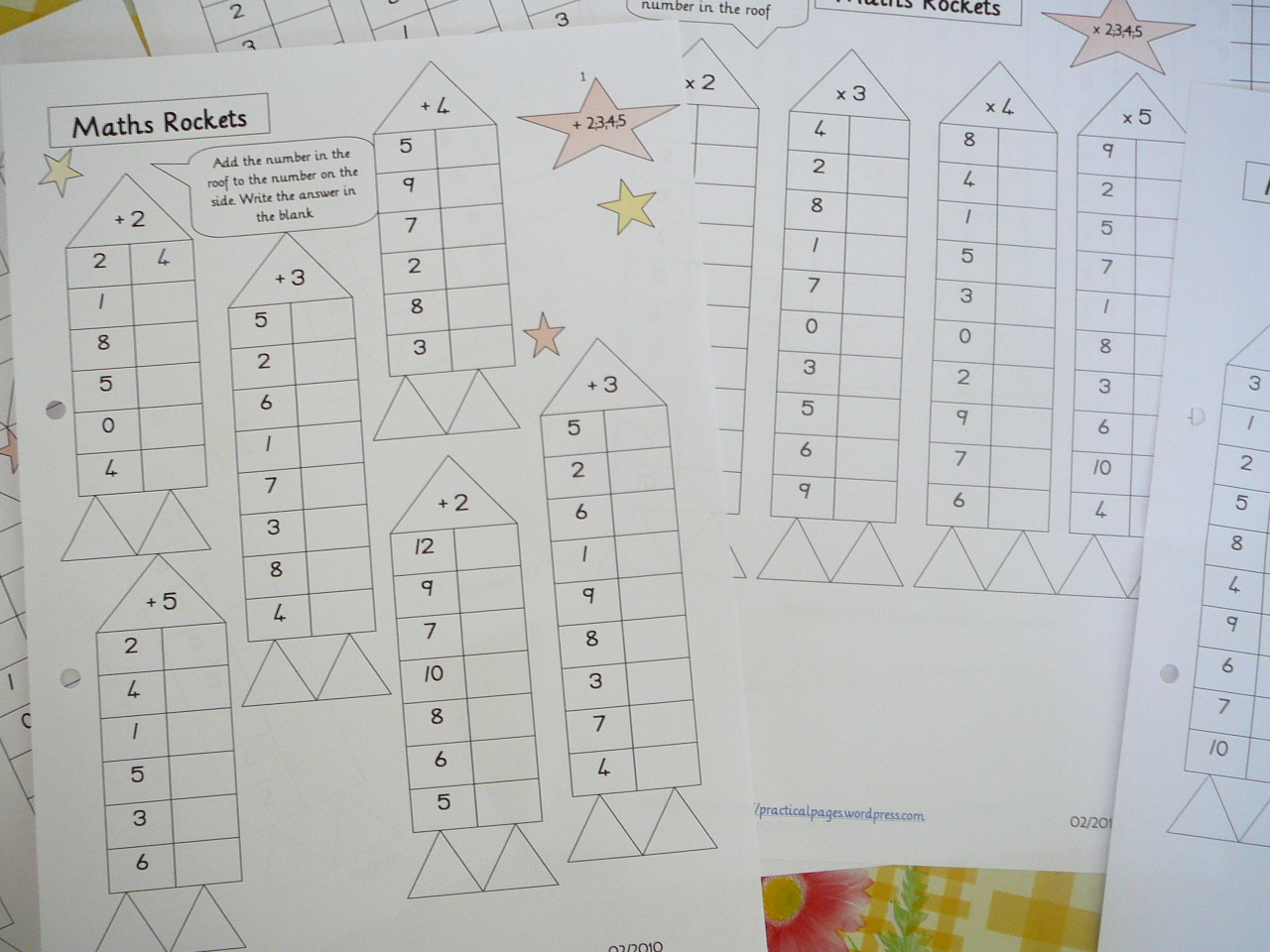 Mental Maths Practice fun worksheets – Free Rocket Math Worksheets