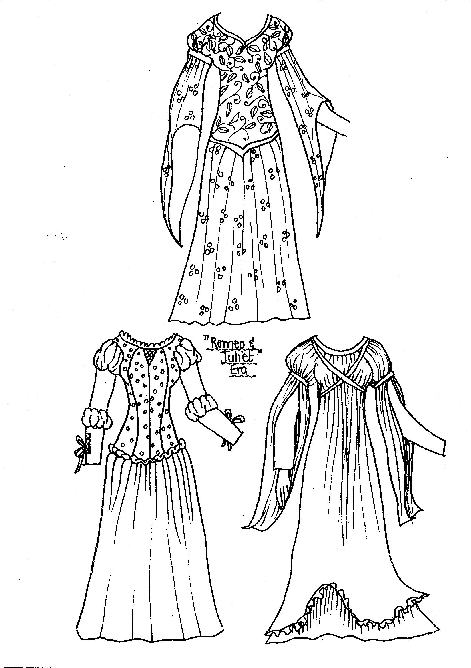 elizabethan coloring pages - photo#35