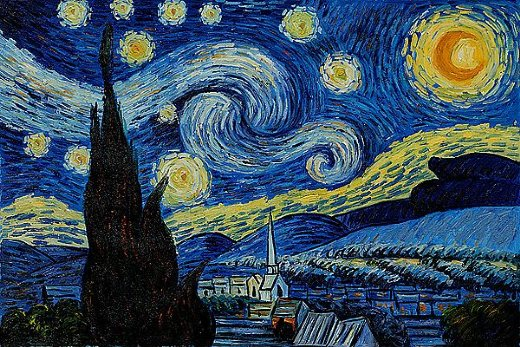 van gogh starry night art appreciation practical pages