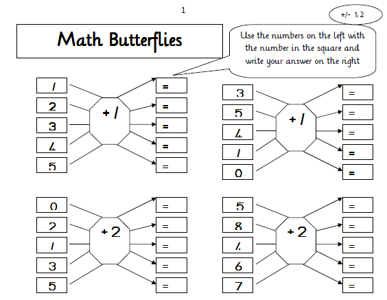 Maths – Mental Math Worksheets
