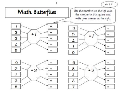 Maths butterflies