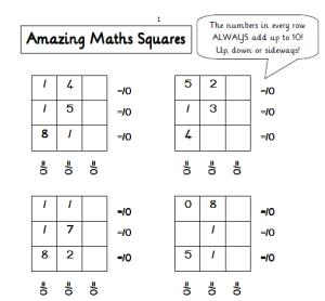 maths squares
