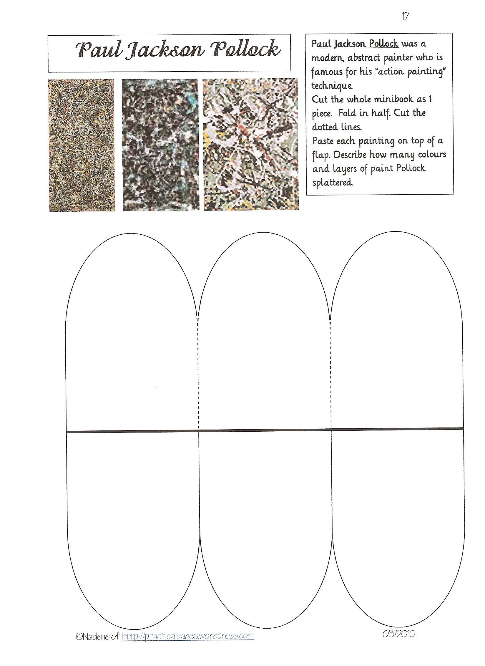 famous artists practical pages. Black Bedroom Furniture Sets. Home Design Ideas