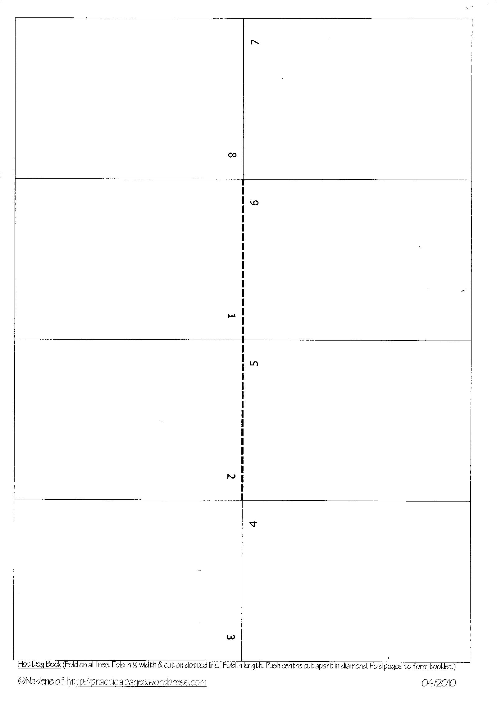 4 One Page Minibook Templates  Blank Program Template