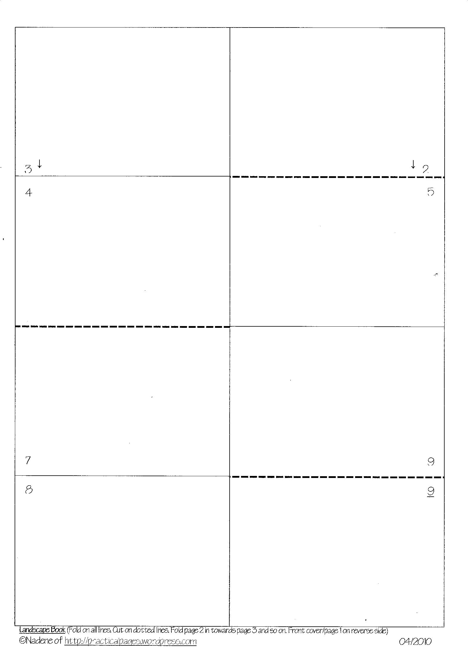 photo regarding Free Printable Mini Book Template referred to as A single-Web page Minibook Templates Handy Internet pages