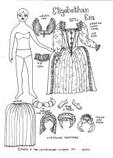 Paper Doll Elizabethan Era