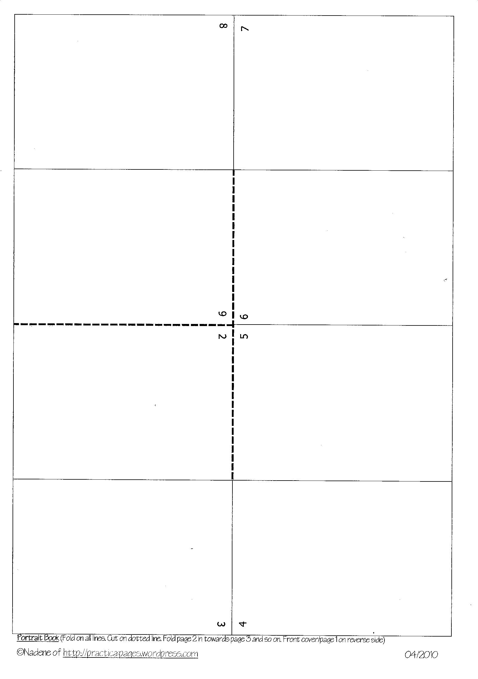 2. The Long Cut Minibook  Book Template Word