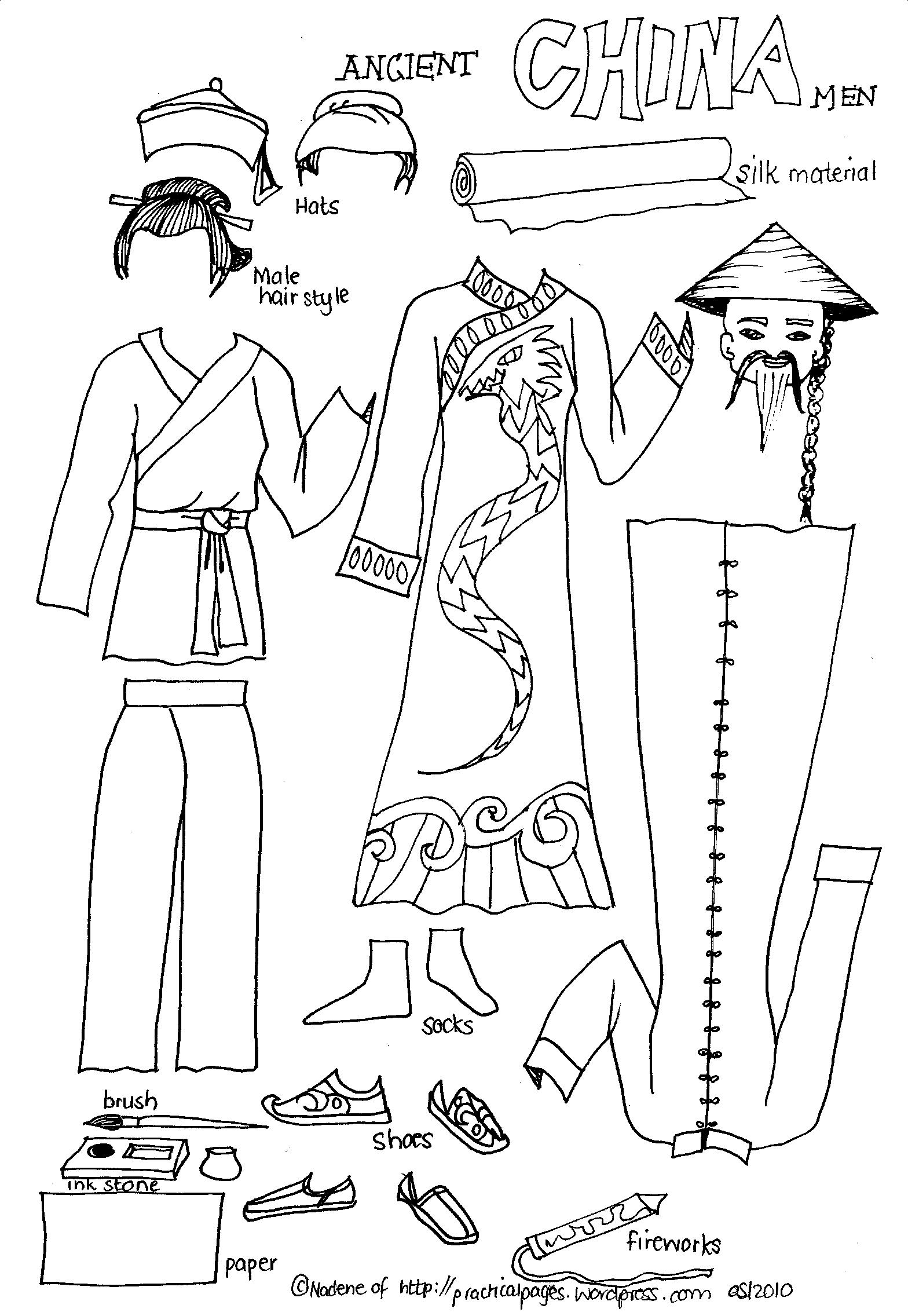 Worksheets Ancient China Worksheets paper men of ancient history practical pages click