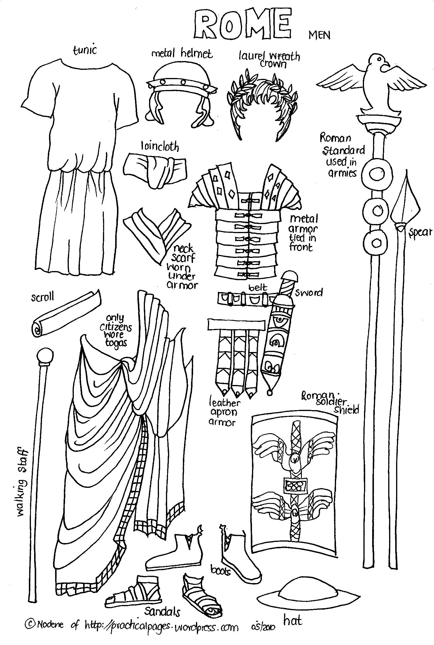 Uncategorized Ancient Rome Worksheets paper men of ancient history practical pages click
