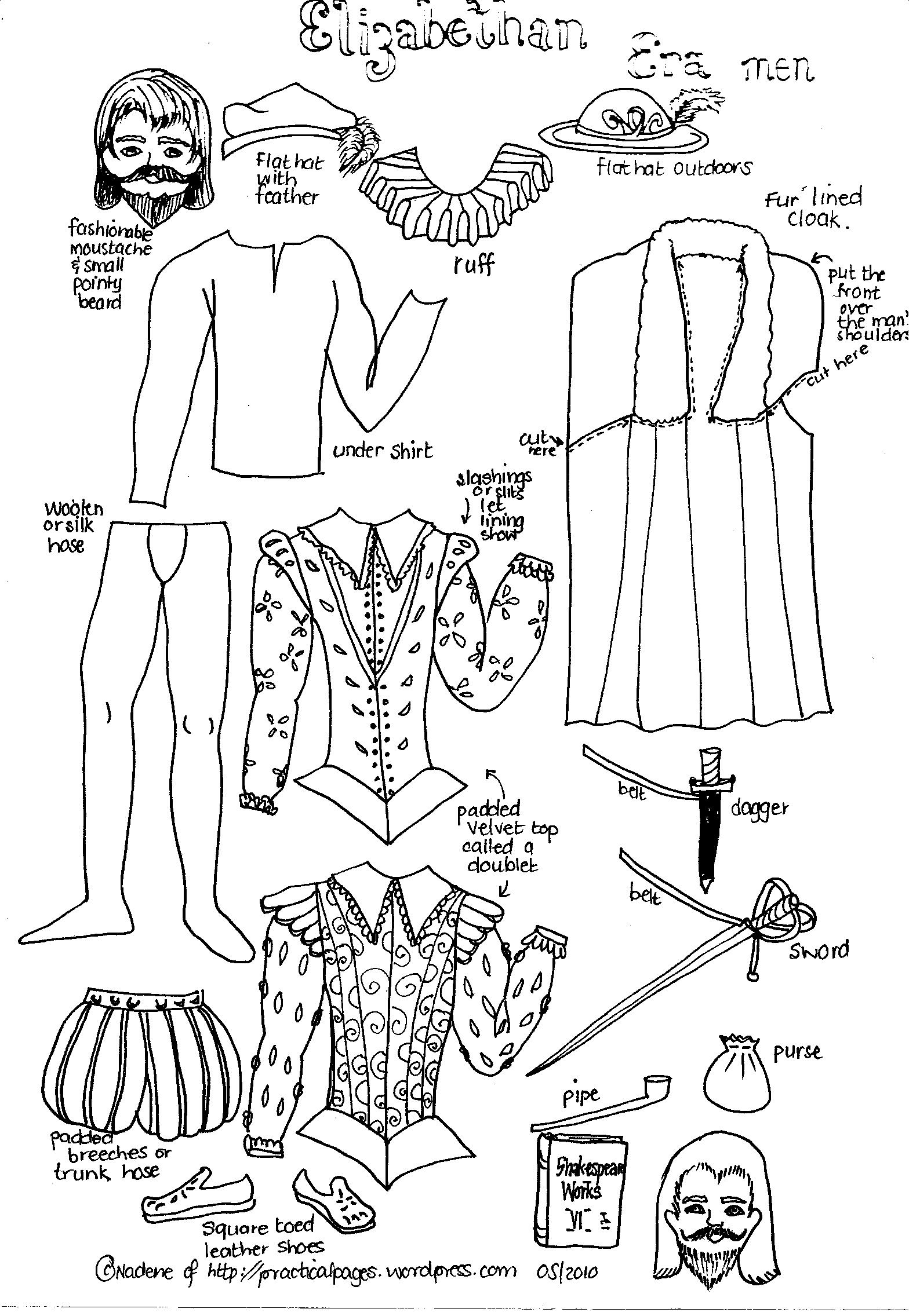elizabethan coloring pages - photo#20