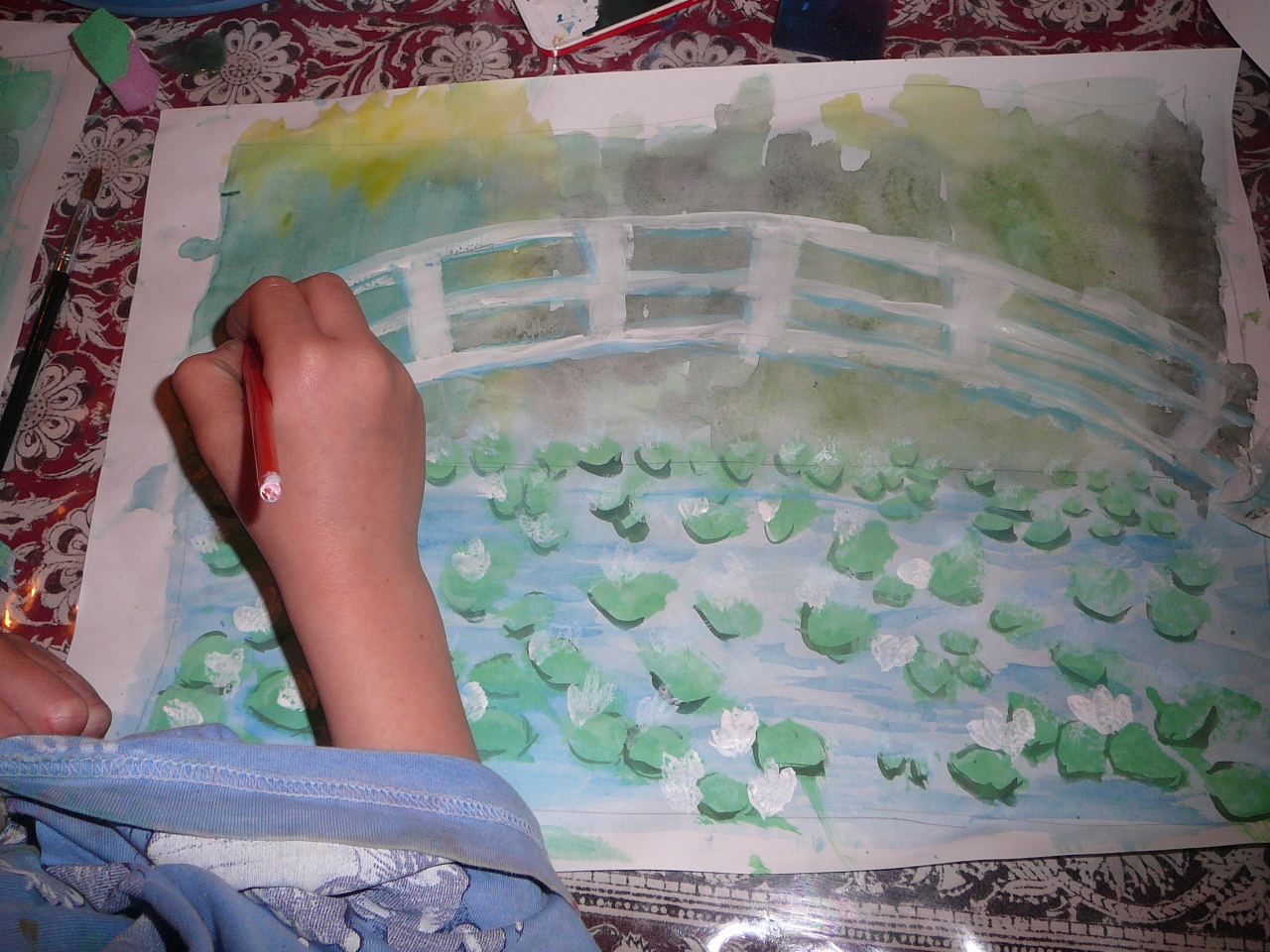 our monet inspired u201cwater lily pond u201d paintings practical pages