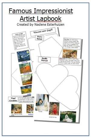Cover Impressionist lapbook