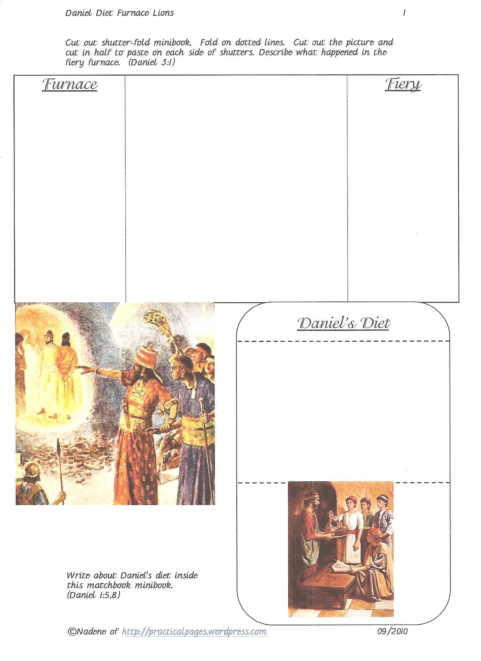daniel bible minibooks practical pages