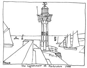 """An Easy Signac """"Lighthouse of Portrieux"""" Art Lesson"""