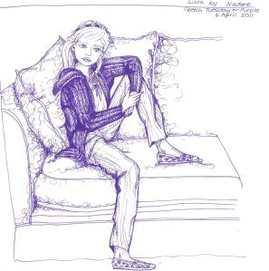 Art Sketch Tuesday Purple 002