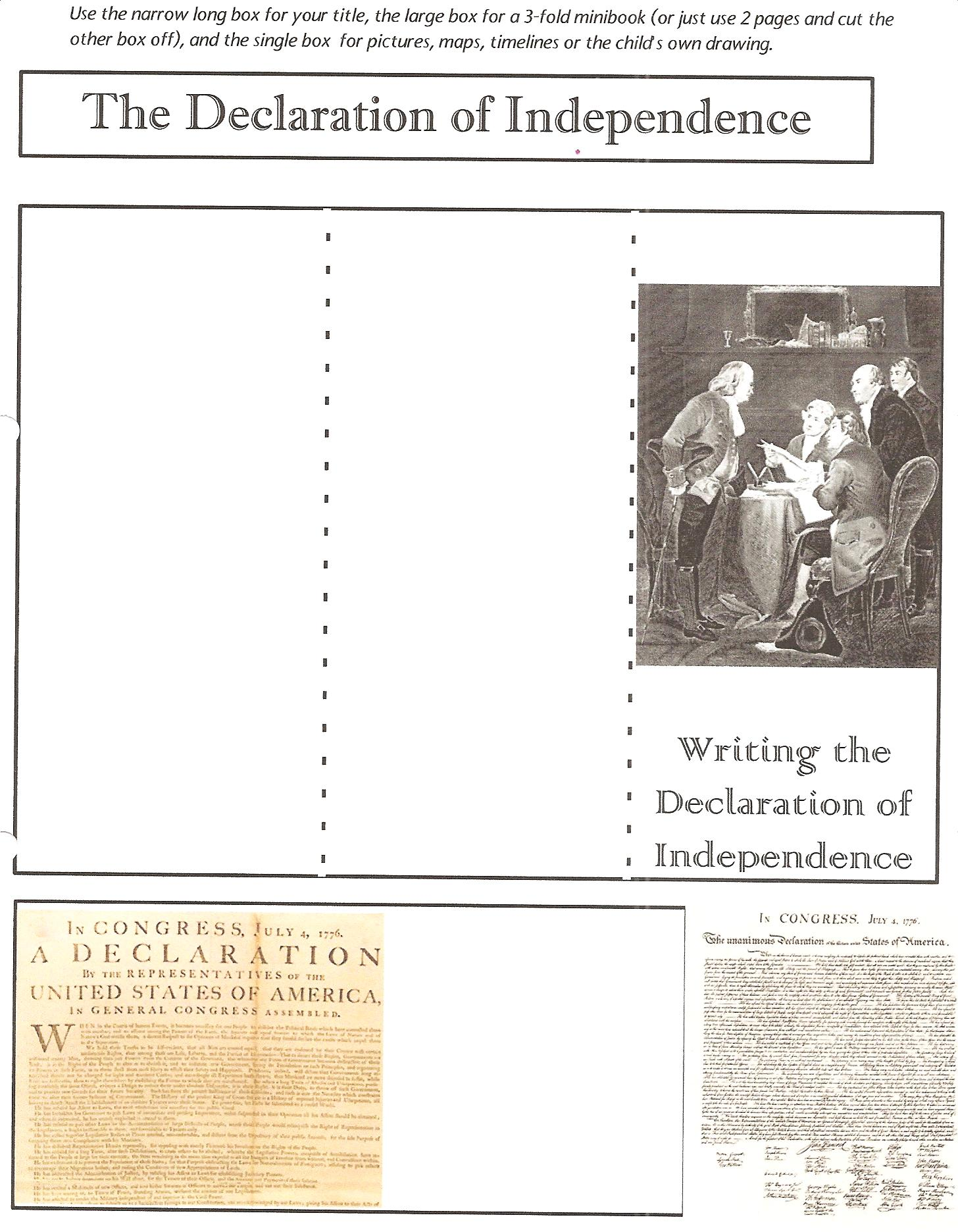 Declaration Of Independence Worksheets For Kids Free Worksheets – Declaration of Independence Worksheets