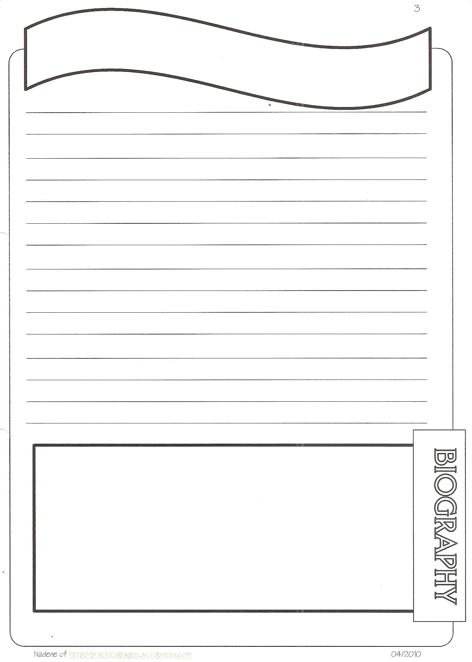 New Biography Notebook Page Templates yDc5h58L