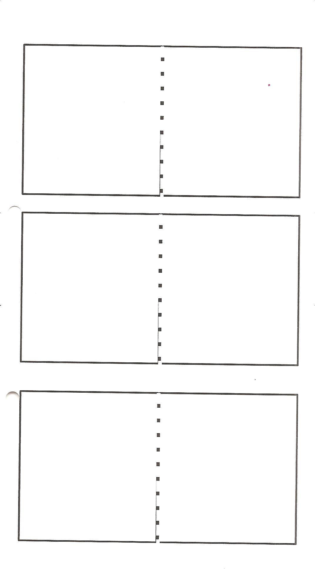 Minibook Practical Pages - Plain timeline template