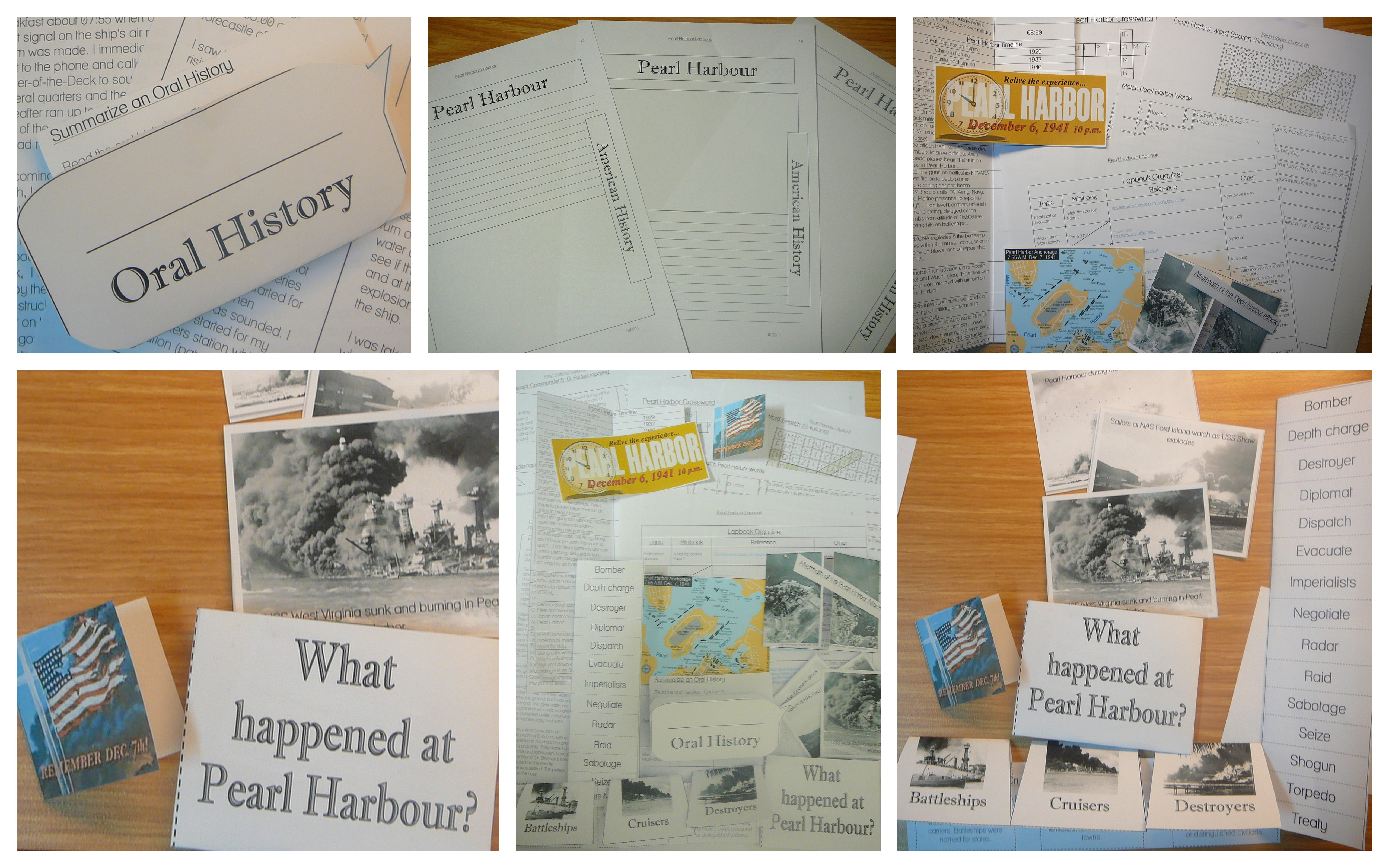 Free Lapbook on Chapter Worksheets