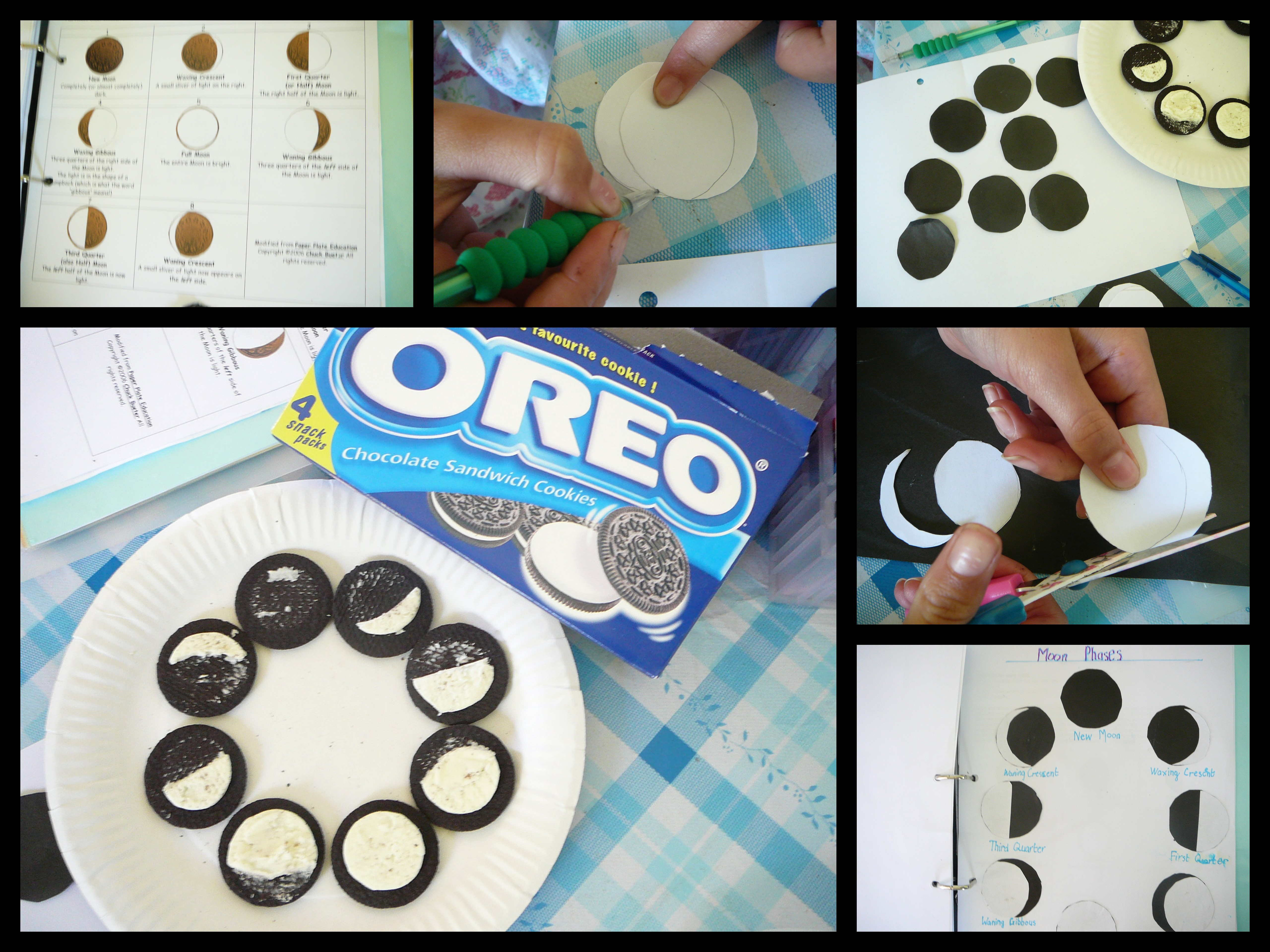 Fun with Oreo Moons – Phases of the Moon for Kids Worksheet