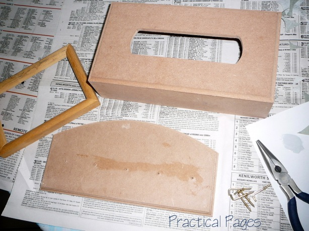 directions making wooden box with lid project