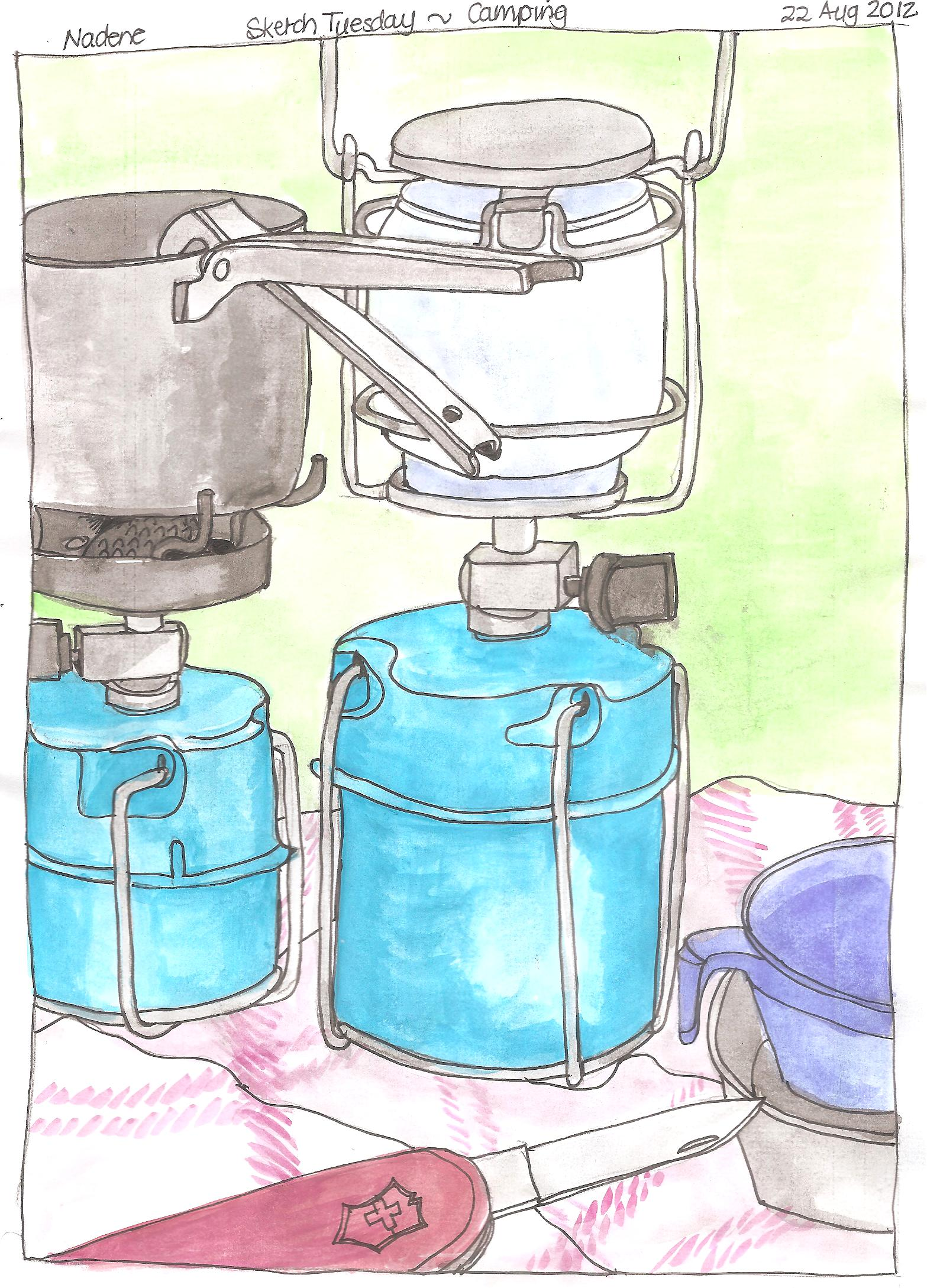 Sketch Tuesday ~ Picnic & Camping | Practical Pages