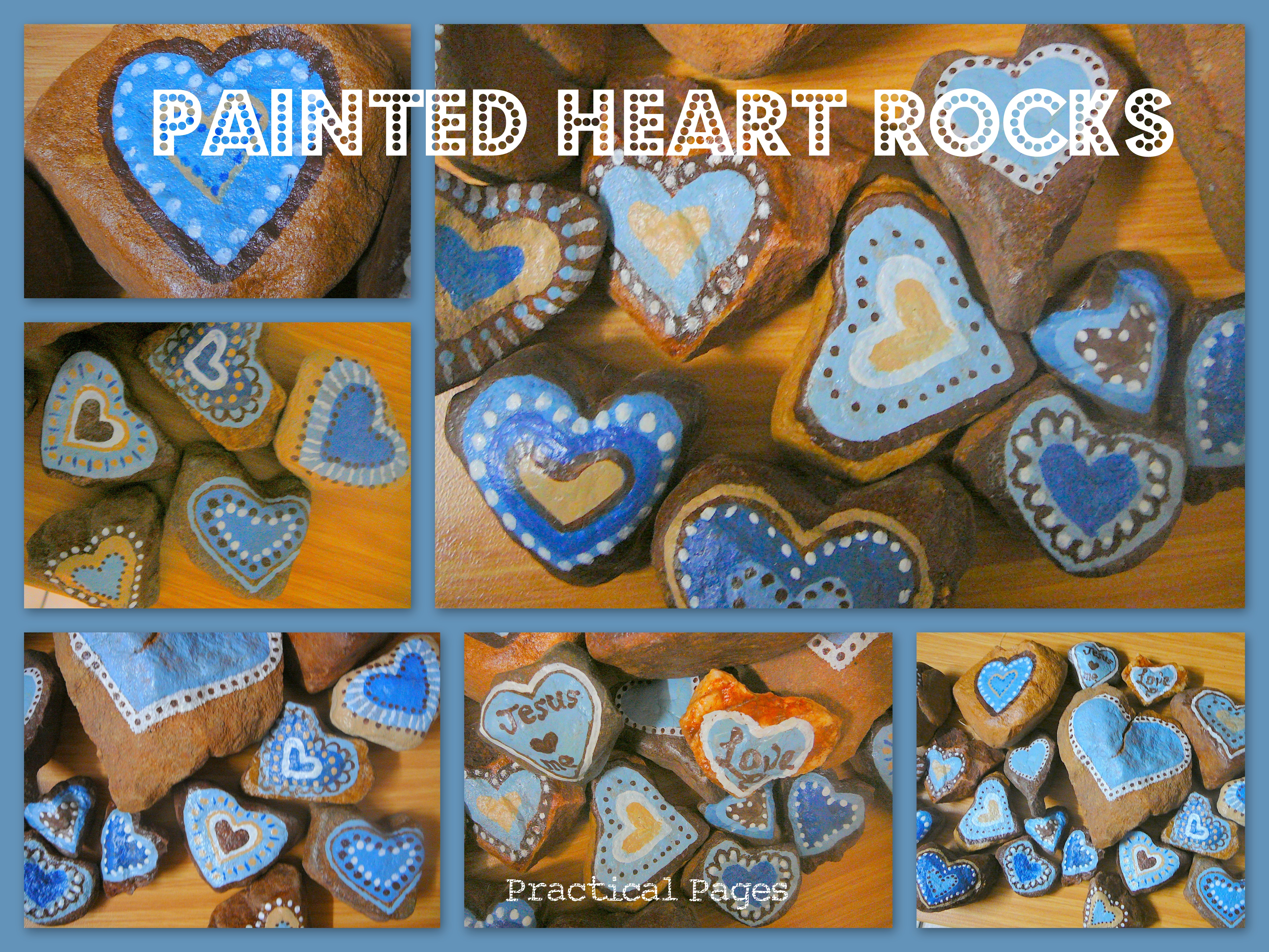 painted heart rocks practical pages