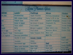 menu planner ideas