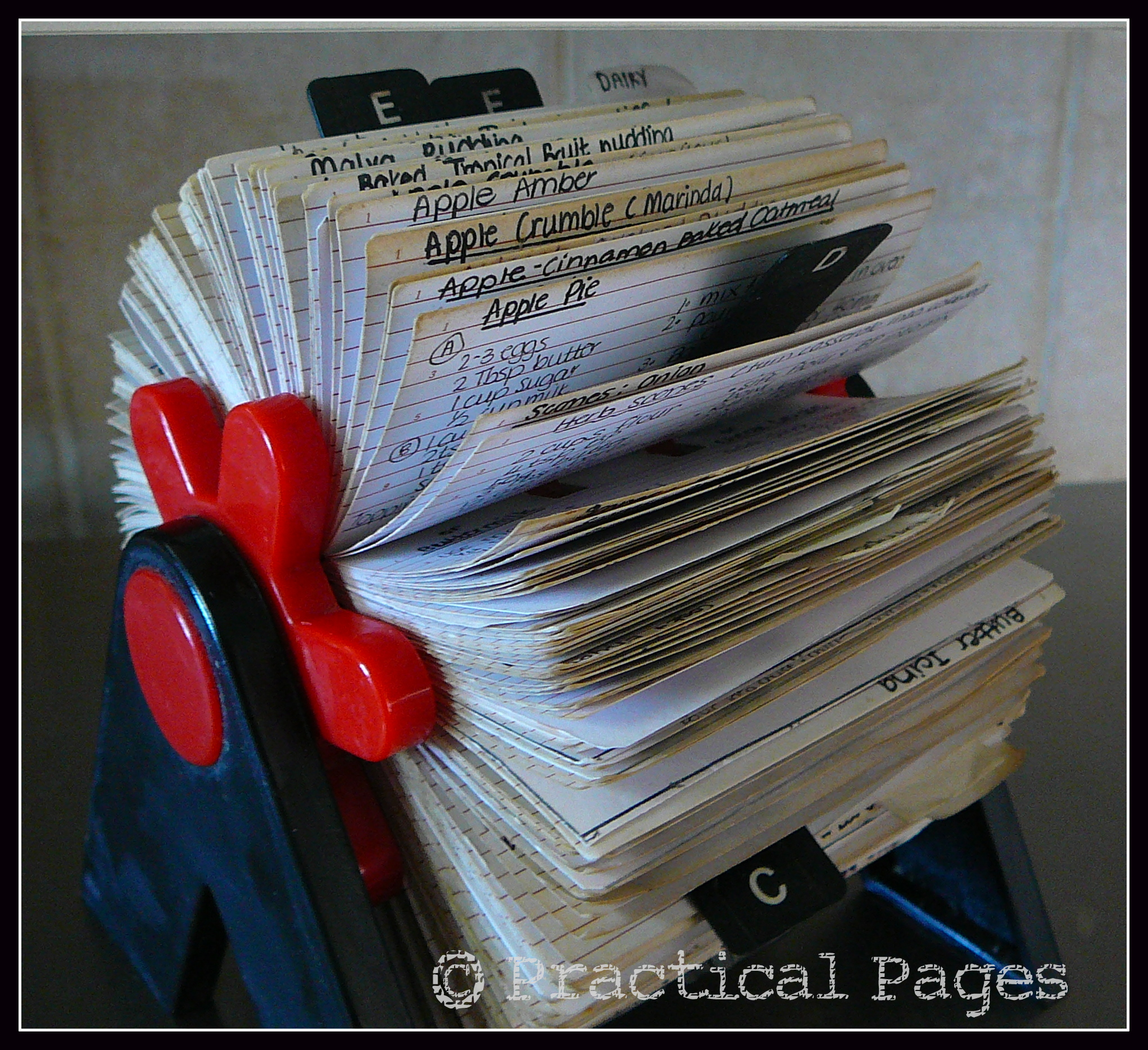 Rolodex Recipe Cards Practical Pages