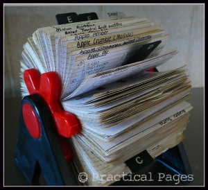 rolodex recipe card holder