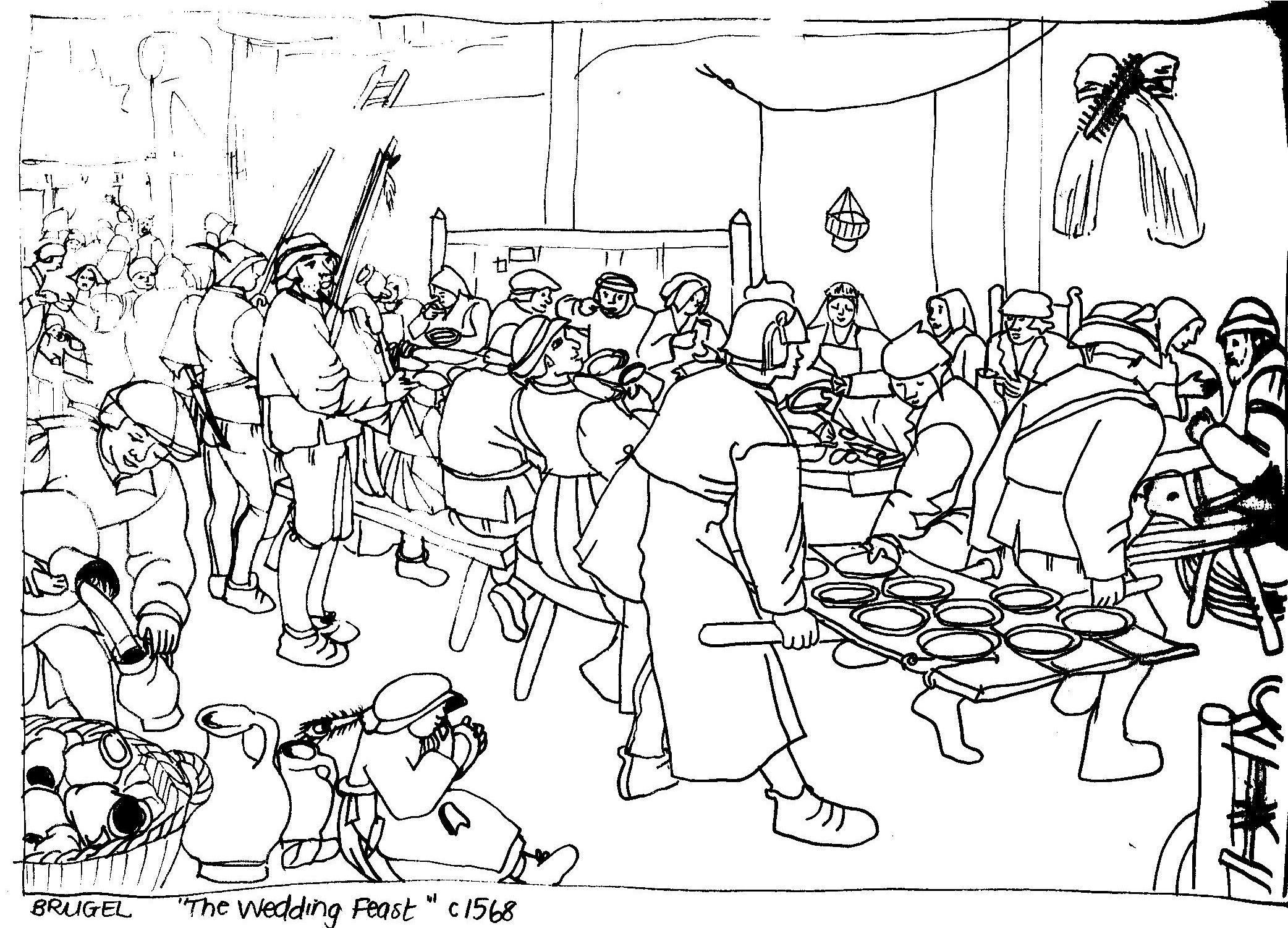 medieval feast coloring pages - photo#2