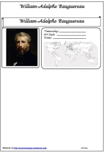 William Adolphe Bouguereau biography page