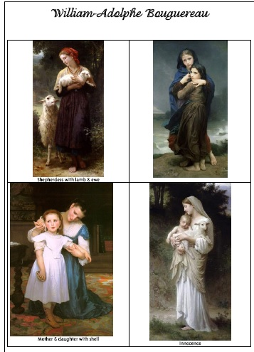 William Adolphe Bouguereau picture study