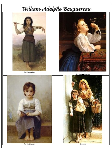 William Adolphe Bouguereau picture study1