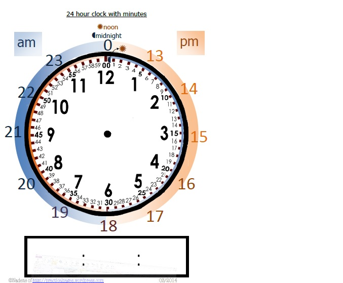 Download and enjoy this middle school maths activity ~ 24 hour clock .