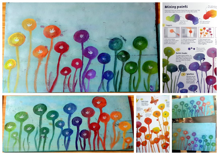Art fun poppies